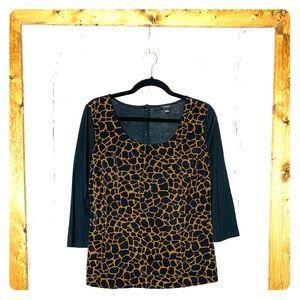 Ann Taylor giraffe print blouse size medium